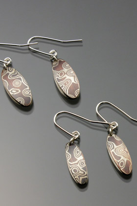 Mokume Gane Earrings